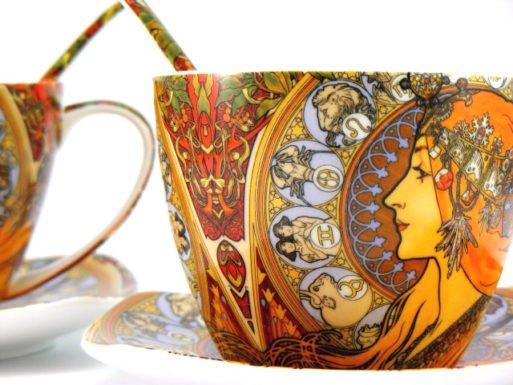 Cesti de cafea Zodiac Alfons Mucha
