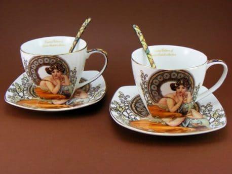 Cesti de cafea Topaz Alfons Mucha