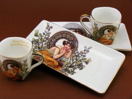 Cesti de espresso Topaz Alphonse Mucha