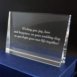 oto cristal gravat cadou personalizat de nunta