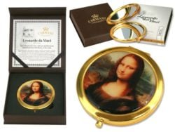 Oglinda de geanta Mona Lisa Leonardo