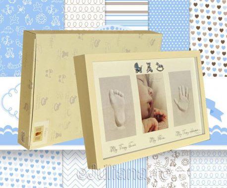 Rama amprenta manuta piciorus cadouri de botez pentru baiat