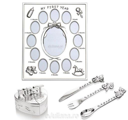 Rama primul an suvita dintisor tacamuri cadouri argintate