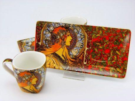 Cesti espresso Zodiac portelan Alfons Mucha