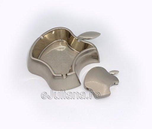 Bricheta scrumiera mar Apple argintiu