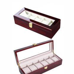 Caseta de lemn 6 ceasuri de mana colectia de lux