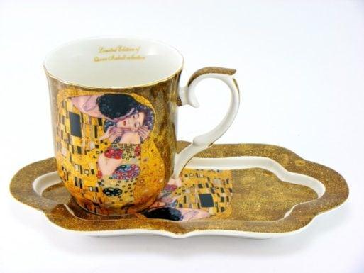 Cana cu tavita de portelan Gustav Klimt