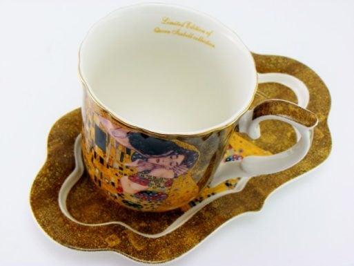 Cana cu tavita de portelan Klimt