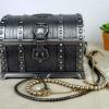 Caseta de bijuterii argintata cu cristal - eJuliana 1