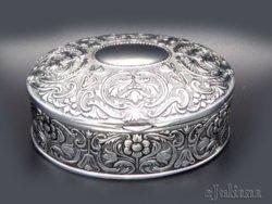Caseta bijuterii ovala retro