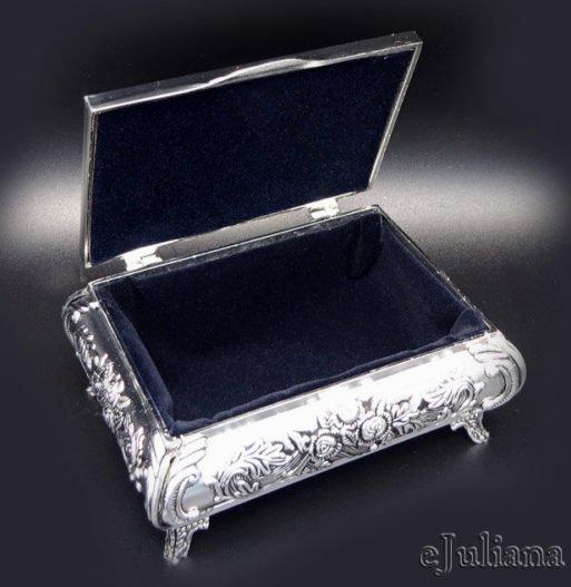 Caseta argintata vintage