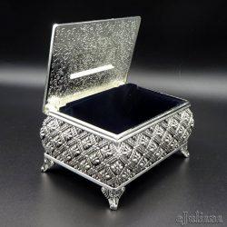 Caseta vintage argintata cufar