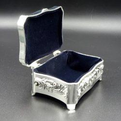 Caseta argintata bijuterii