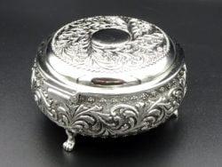 Caseta argintata rotunda