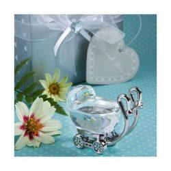 Carucior de cristal marturie pentru botez bebelusi