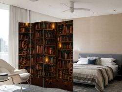 Paravan decorativ despartitor biblioteca