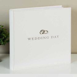 Album de nunta cu verighete argintate