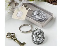 Breloc iconita argintie