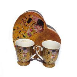 Cani de cafea pentru miri cuplu aniversare Klimt