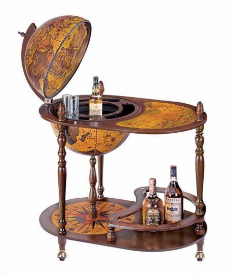 Bar glob cu masa cabinet pentru bauturi, piesa de mobilier pentru casa si birou.