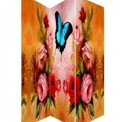 Paravan de panza floral cu fluture pentru interior