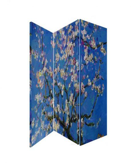 Paravan flori de migdal pictura de Van Gogh