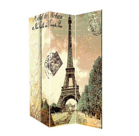Paravan vintage Turn Eiffel 180cm