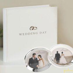 Album si rama verighete pentru miri, logodna si cuplu aniversar,
