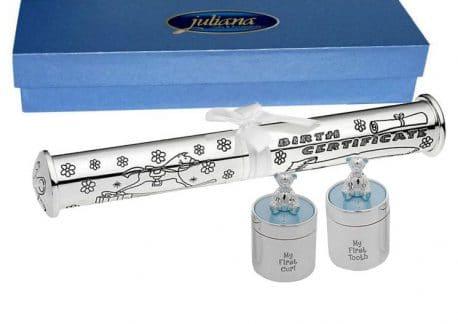 Set pentru suvita dintisor suport certificat argintat Juliana