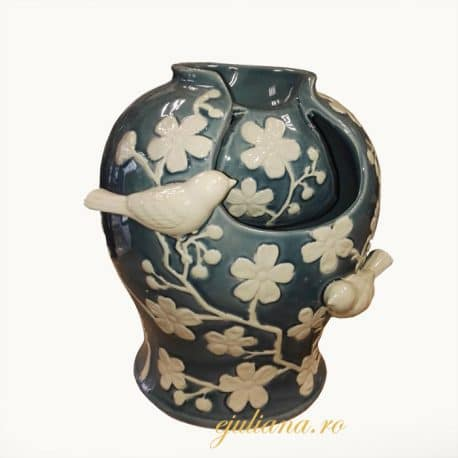 Fantana de ceramica pictata cu pasari