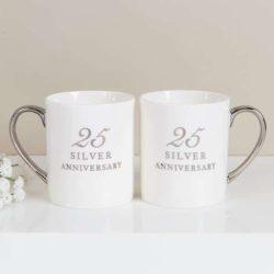 Set doua cani pentru aniversarea casatoriei de 25 de ani