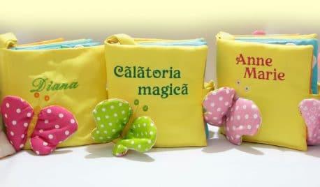Cartea magica pentru bebelusi, cartea senzoriala, personalizabila