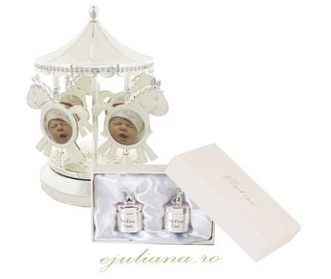Carusel cutiute mot dintisor ursulet, cadouri argintate pentru fetita