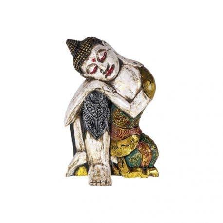 Buddha dormind statueta de lemn
