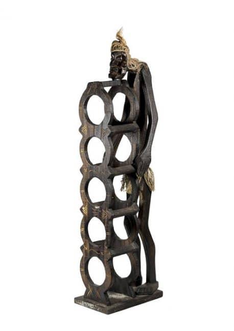 Mini bar sticle de vin Indigen lemn antichizat Mini bar sticle de vin Indigen din lemn antichizat lucrat si sculptat manual, recomandari piese de mobilier antichizat pentru casa.
