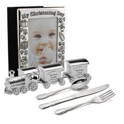 Album tacamuri argintate cutiute pentru mot dintisor, cadouri de botez