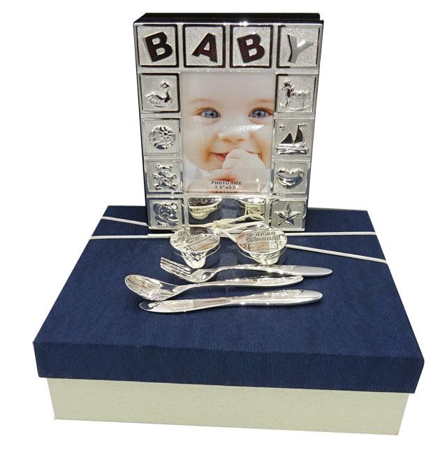 Album dintisor mot tacamuri argintate pentru bebelusi fetita sau baietel, din colectia de cadouri placate Juliana.