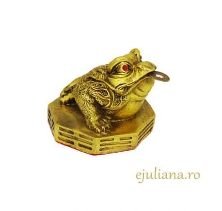 Broasca norocoasa de bronz Bagua