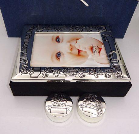 Album mot dintisor cadou de botez, set argintat