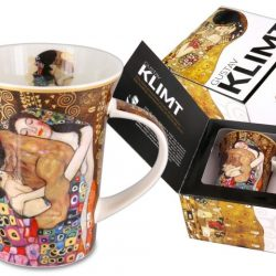 Cana de cafea Family by Klimt, portelan fin de colectie, decorata cu reproducere dupa pictura Family by Gustave Klimt.