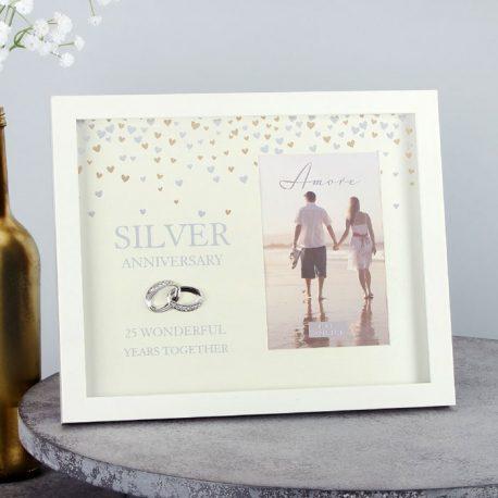 Rama aniversare 25 de ani de casatorie colectia Amore, recomandari de cadouri pentru cuplu.