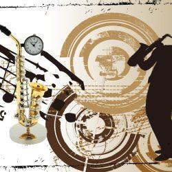 Ceas saxofon miniatura