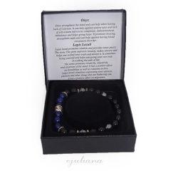 Bratara pentru barbati din pietre de onix si lapis lazuli