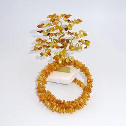 Bratara si pomisor bonsai cu ramuri de chihlimbar