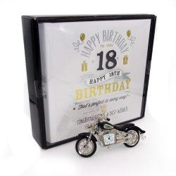 Motocicleta ceas si album pentru 18 ani