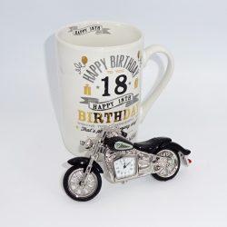 Miniatura ceas motocicleta si cana 18 ani, cadou pentru majorat