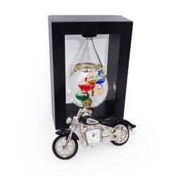 Ceas de birou motocicleta si termometru Galileo Galilei