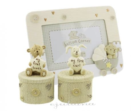 Cutiute pentru mot si primul dintisor impreuna cu rama foto pentru bebelusi