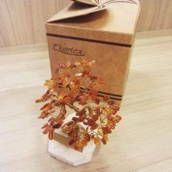 Pomisor pentru noroc chihlimbar, bonsai din chihlimbar