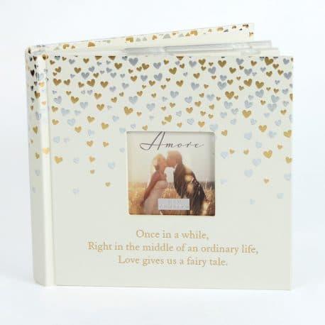 Album de nunta inimioare argintii si aurii